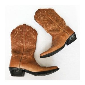 ARIAT Embroidered Point Toe Cowgirl Boots